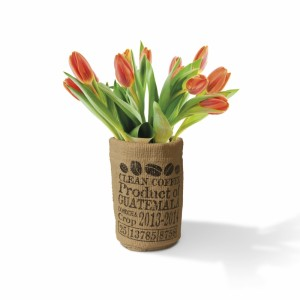 Kávés zsák váza