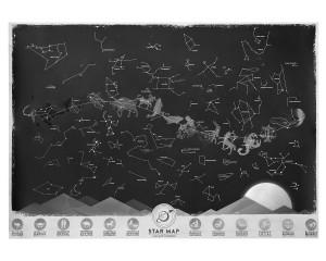 Csillagjegy-térkép (foszforeszkáló)