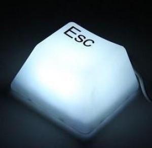 ESC + DEL USB lámpa
