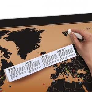 Bakancslista világtérkép A1