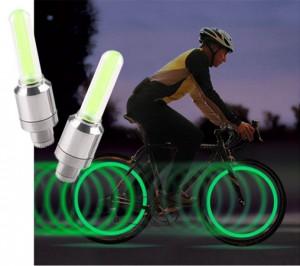 Bicikli LED szelepvilágítás (2 db)