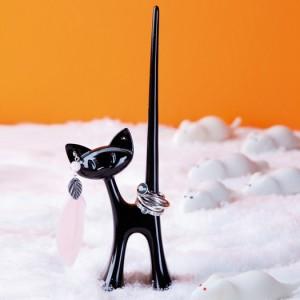 Miaou gyűrű- és fülbevalótartó macsek