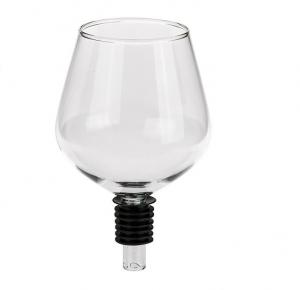 Borosüveg pohár