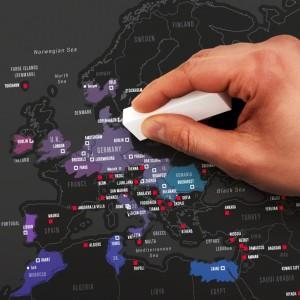 Fővárosok kaparós térkép