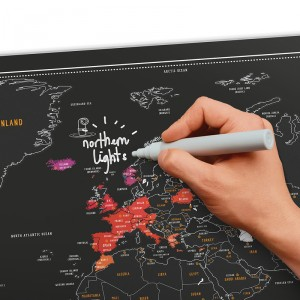 Kaparós krétatábla világtérkép A1
