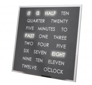 LED-es szó óra