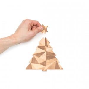 Karácsonyfa kirakós fa üdvözlőkártya