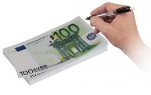 100 eurós notesz