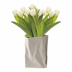 Gyűrött porcelán váza