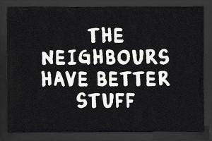 A szomszédnak jobb cuccai vannak... lábtörlő