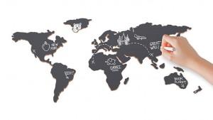 Krétás parafa világtérkép