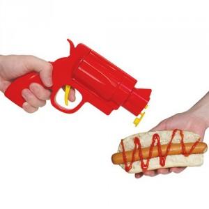 Kétlövetű mustár + ketchup pisztoly grillezéshez