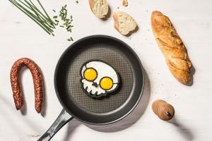 Koponya szilikon tojássütő forma