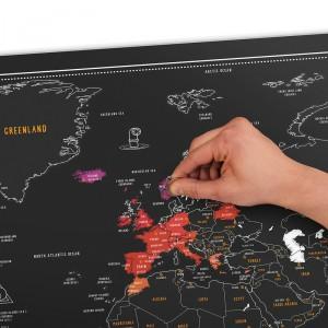 Írható térkép filctollal A1