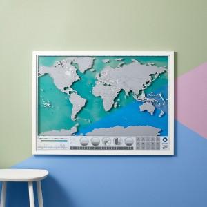 Kaparós világtérkép óceánok kiadás A1