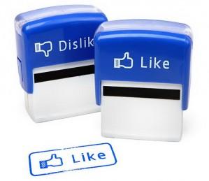Like + Dislike Facebook bélyegző