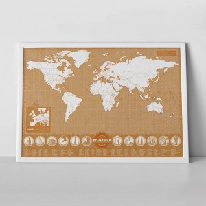 Bélyegzős útlevél világtérkép