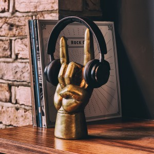 Metálvilla fejhallgatótartó