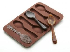 Csokikanál szilikon forma