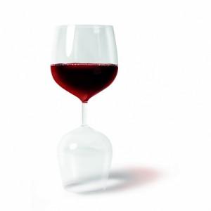 Fehér + vörösboros pohár 2in1