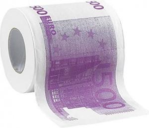 500eurós WC papír