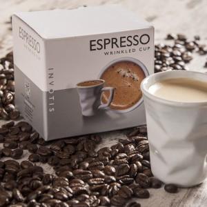 Gyűrött espresso kávéscsésze (porcelán)