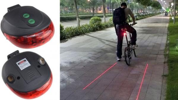 lézer led bicikli világítás lámpa kerékpár sáv