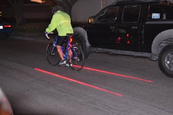 lézer led bicikli világítás